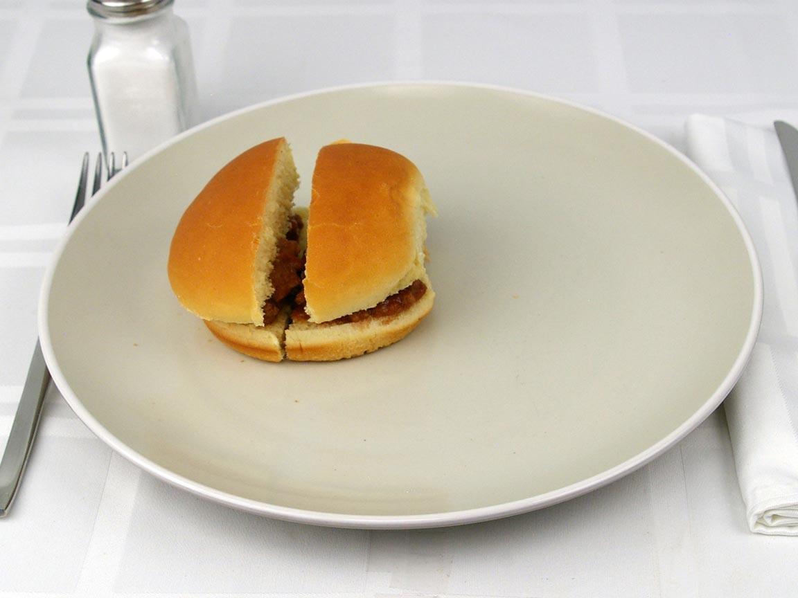Calories in 1 sandwich(s) of Sloppy Joe Sandwich - 85% Lean