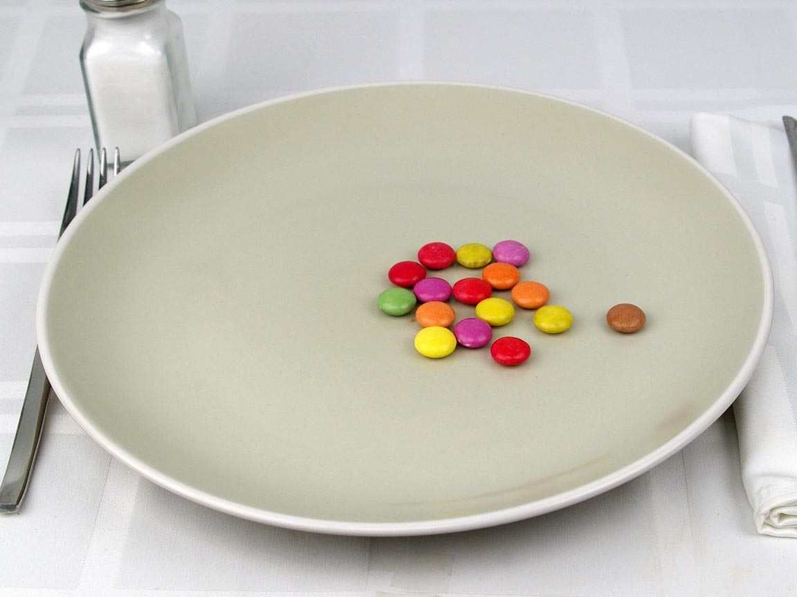 Calories in 0.5 tube(s) of Smarties Chocolate Candy