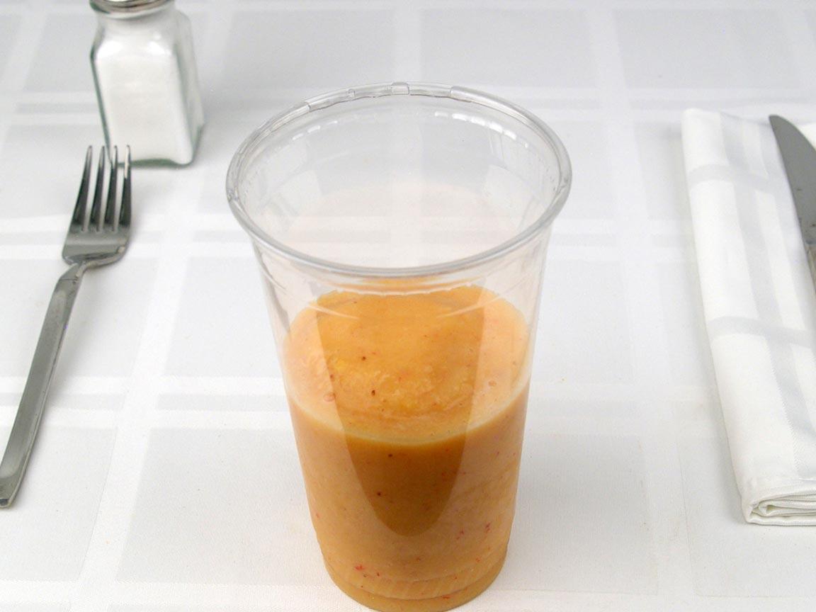 Calories in 0.75 small(s) of Jamba Juice Mango Smoothie