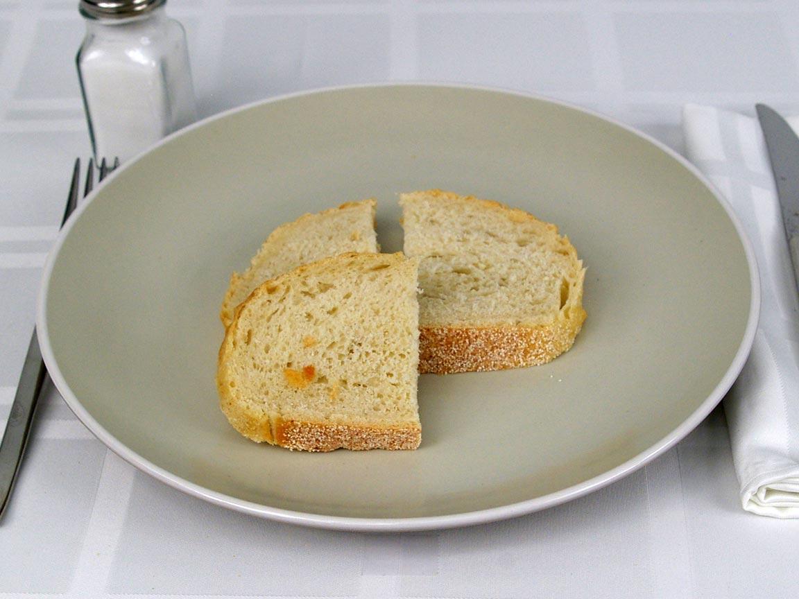 Calories in 3 ea(s) of Sourdough Bread