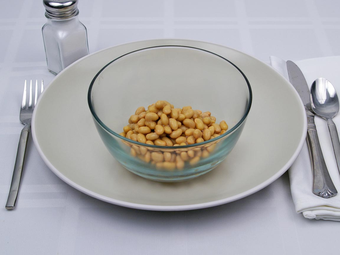 Calories in 0.75 cup(s) of Soybeans - Mature - Canned