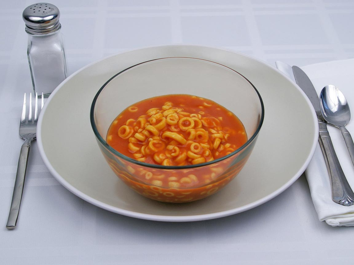 Calories in 1.5 cup(s) of Spaghettios - Original