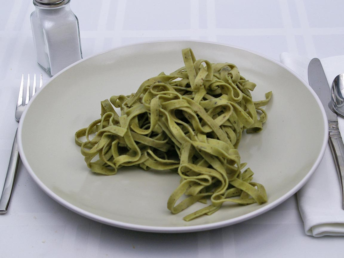 Calories in 170 grams of Spinach Fettuccine Pasta
