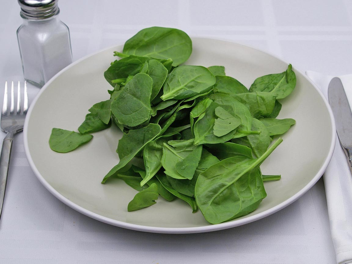 Calories in 4 cup(s) of Spinach - Fresh