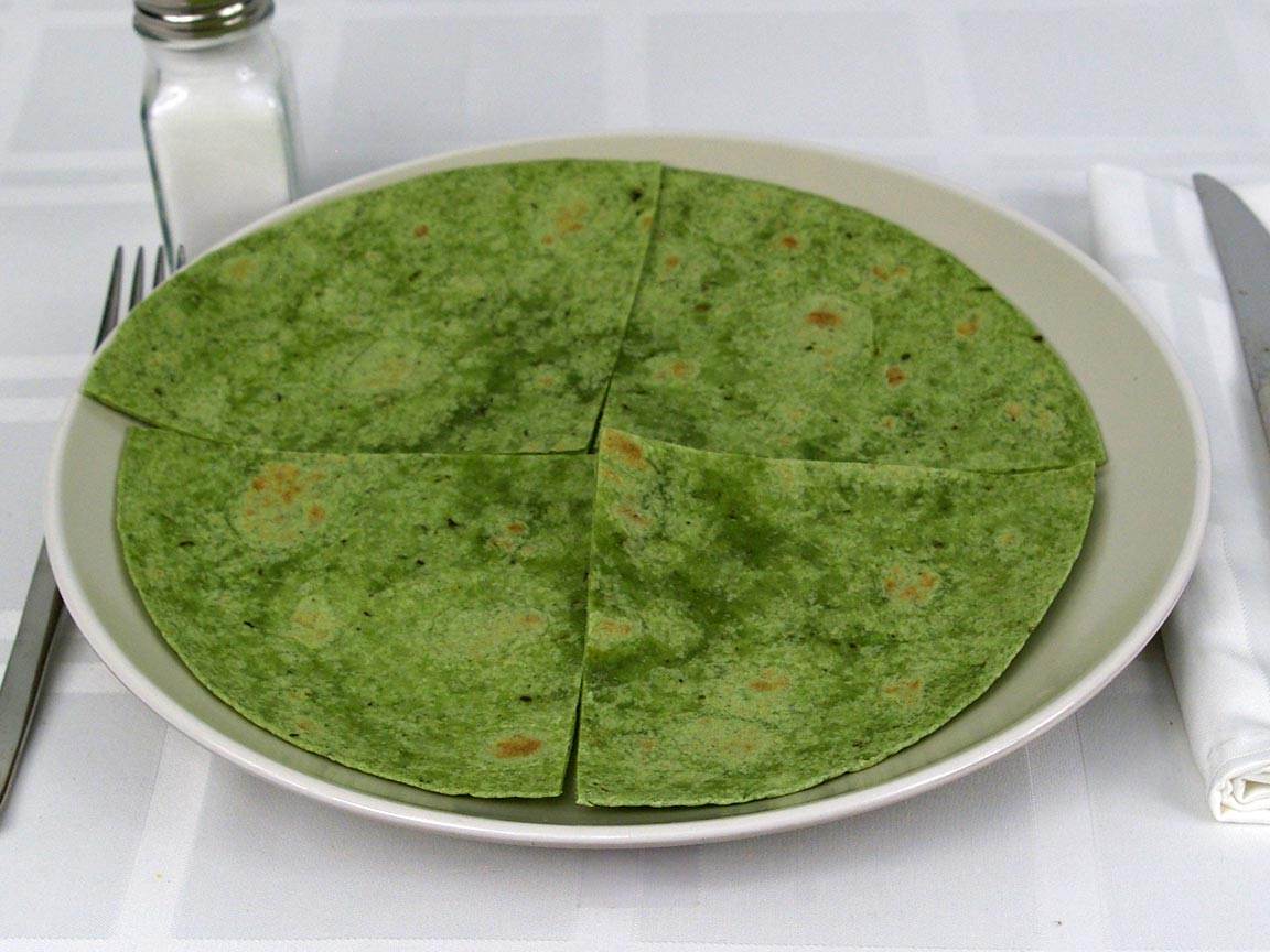 Calories in 1 ea(s) of Spinach Wraps Tortilla