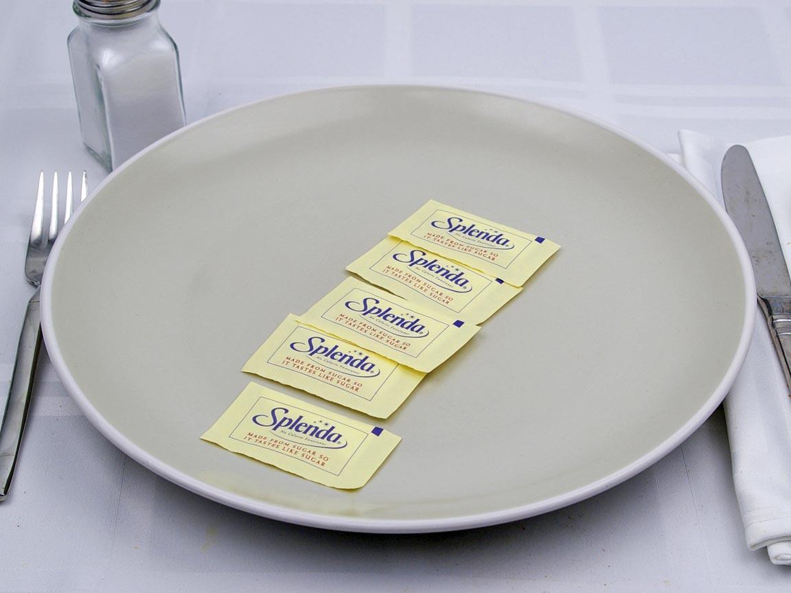 Calories in 5 packet(s) of Splenda