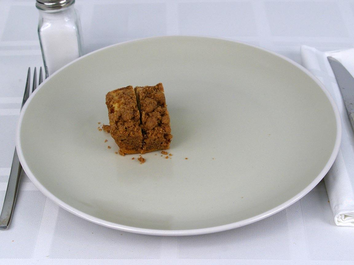 Calories in 0.5 ea(s) of Starbucks Coffee Cake