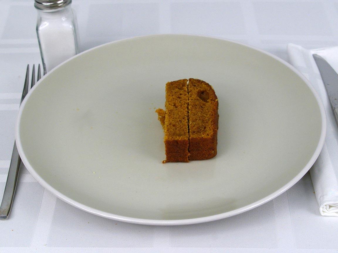 Calories in 0.5 ea(s) of Starbucks Pumpkin Bread