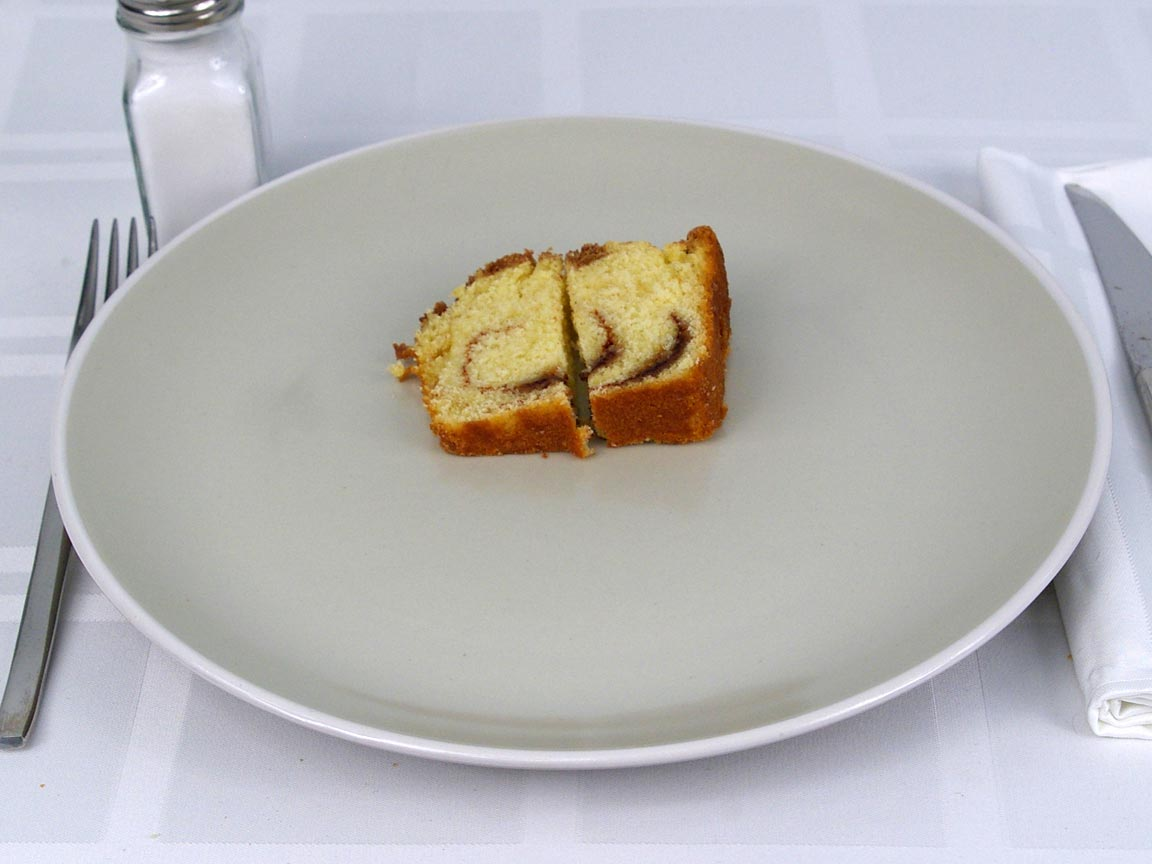 Calories in 0.5 ea(s) of Starbucks Reduced Fat Coffee Cake