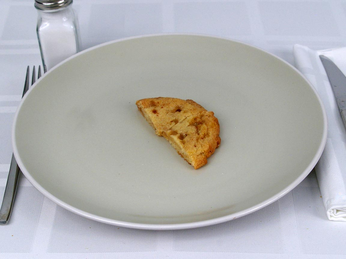 Calories in 0.5 ea(s) of Starbucks Toffeedoodle Cookie