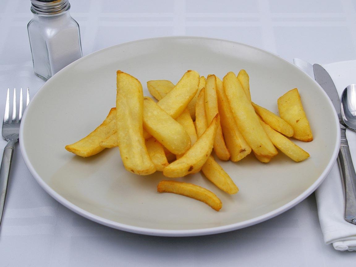 Calories in 226 grams of Steak Fries - Fried
