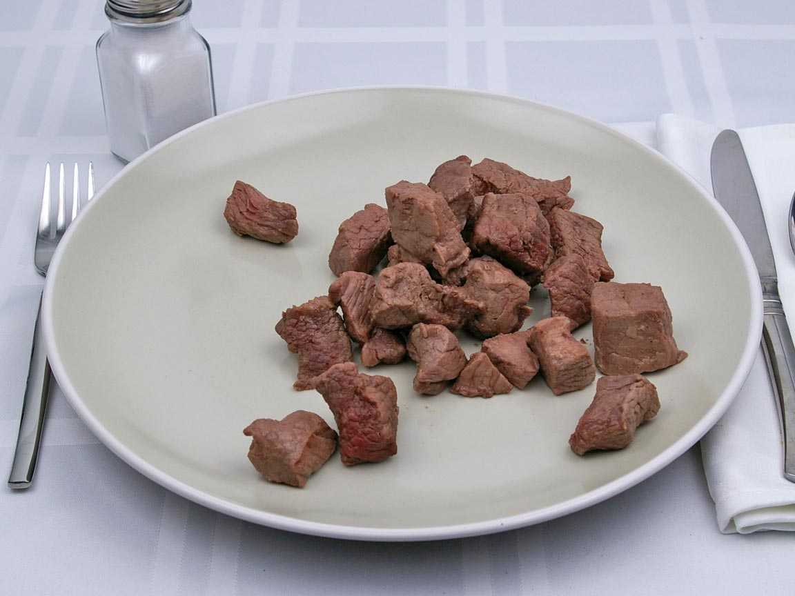 Calories in 198 grams of Beef - Chuck - for Stew