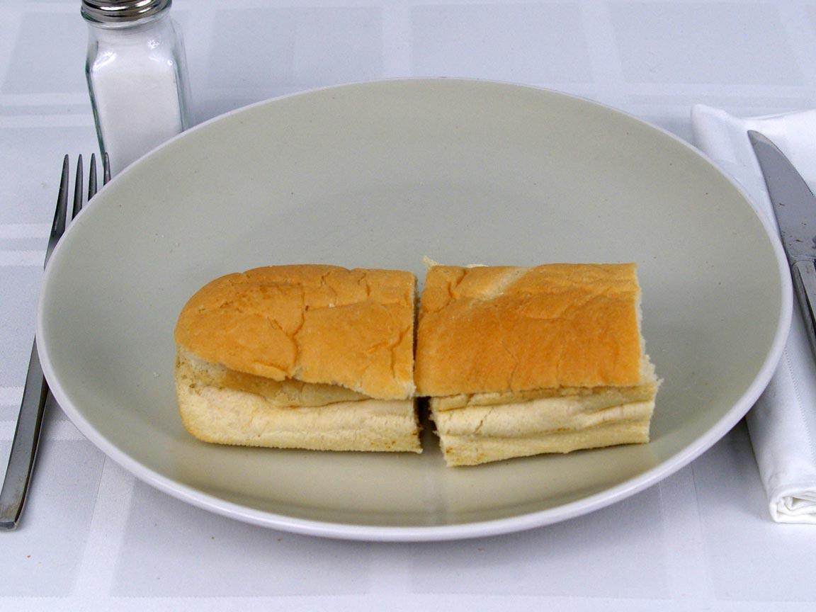 Calories in 1 6 inch(s) of Subway Italian White Bread
