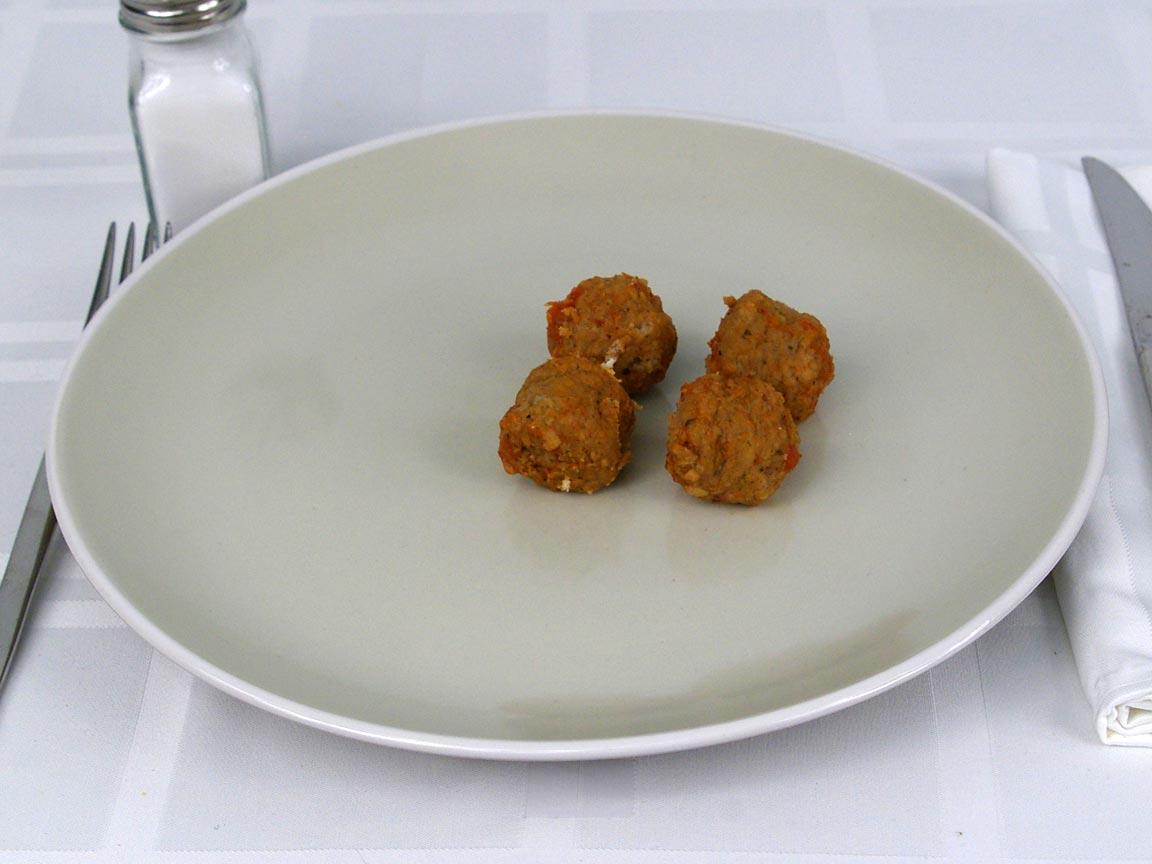 Calories in 3.68 ea(s) of Subway Meatballs