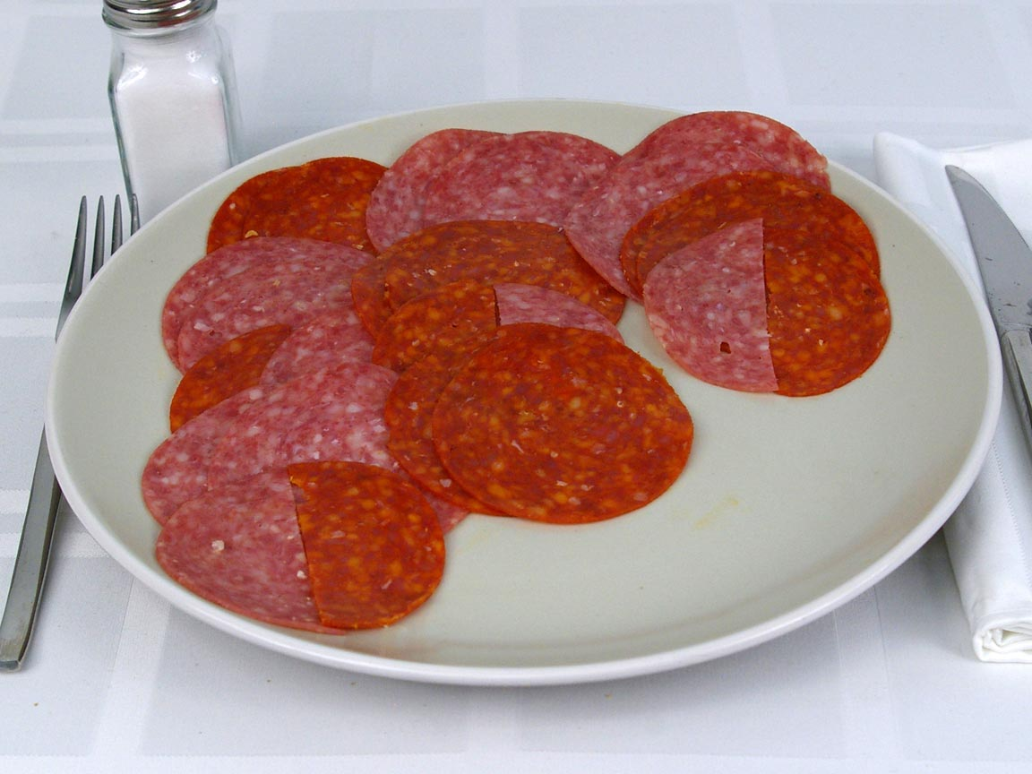 Calories in 20 ea(s) of Subway Salami and Pepperoni