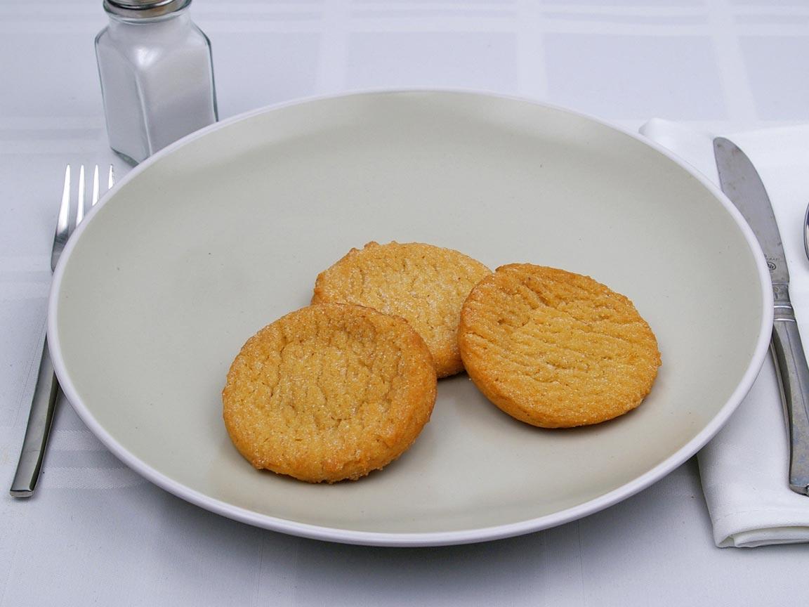 Calories in 3 cookie of Sugar Cookie