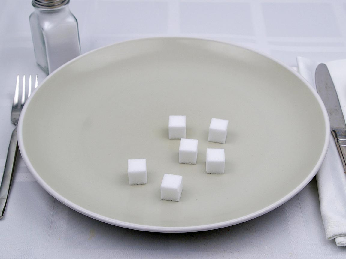 Calories in 6 cube of Sugar Cubes