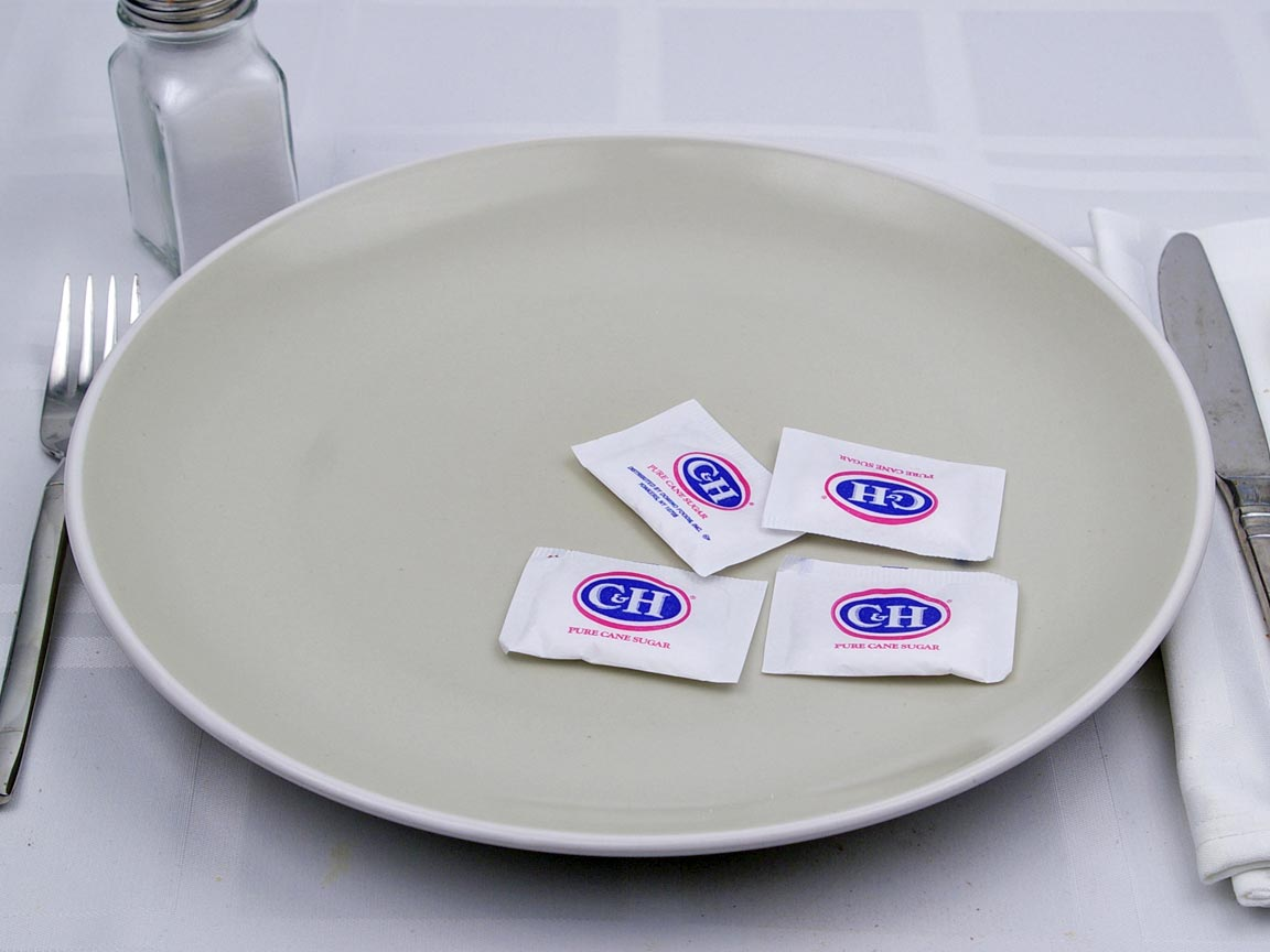 Calories in 4 packet(s) of Sugar Packets