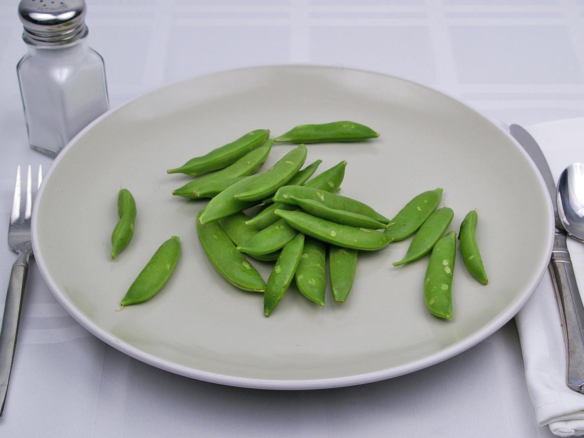 Calories in 81 grams of Sugar Snap Peas