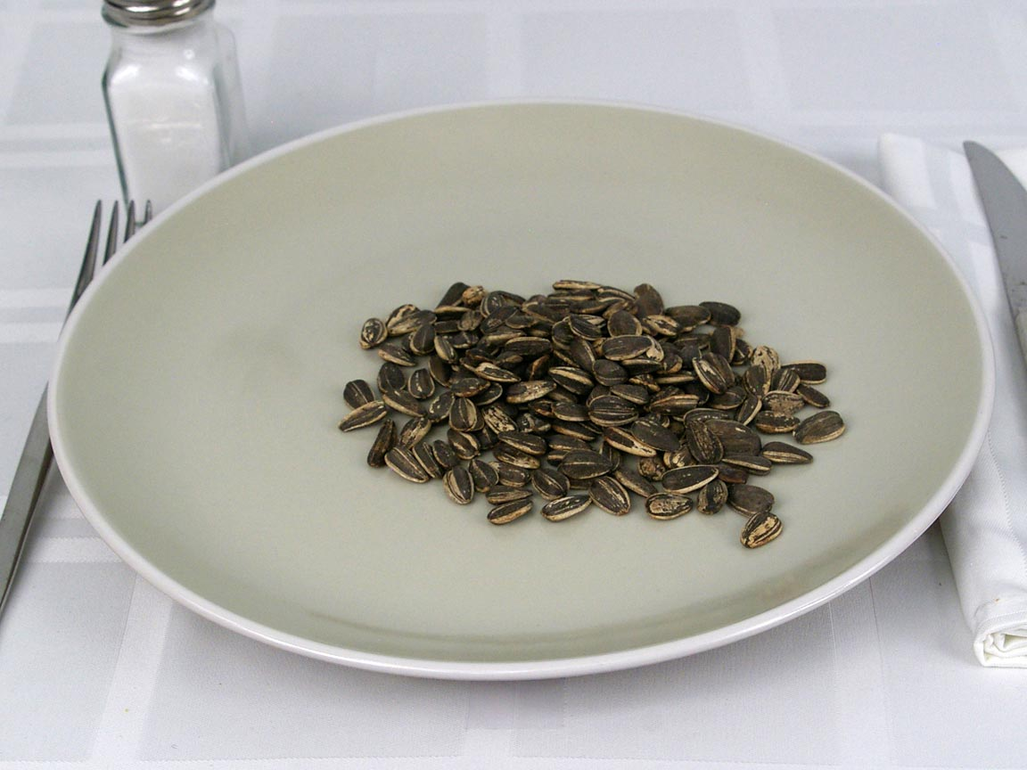 Calories in 42 grams of Sunflower Seeds in Shell