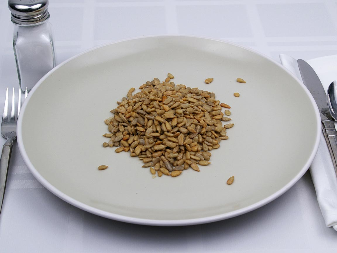 Calories in 226 grams of Sunflower Seeds - Shelled