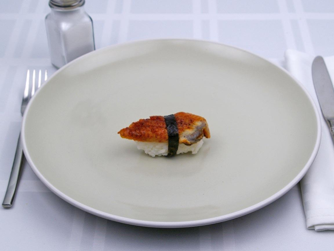 Calories in 1 piece(s) of Sushi - Eel Nigiri