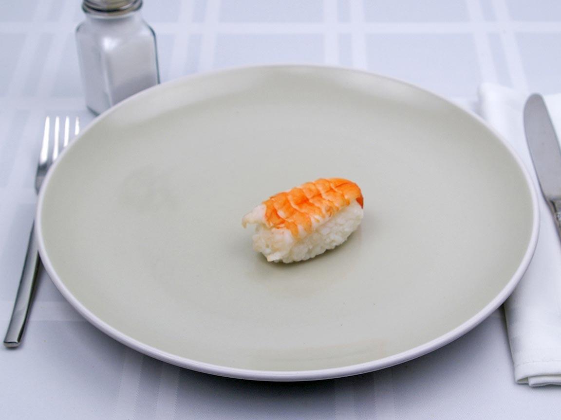 Calories in 1 piece(s) of Sushi - Shrimp Nigiri
