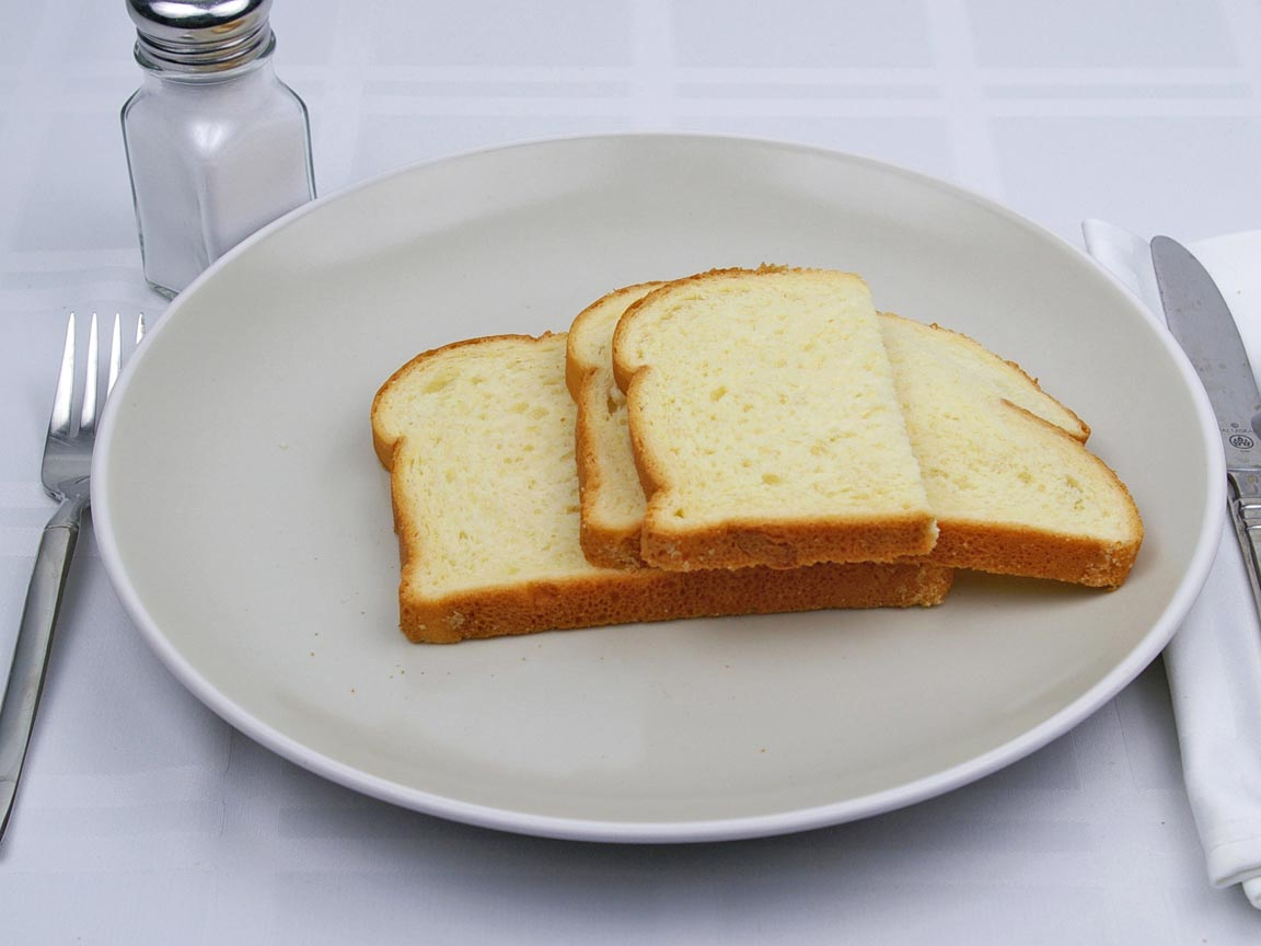Calories in 2.5 slice(s) of Sweet Hawaiian Bread - Sliced