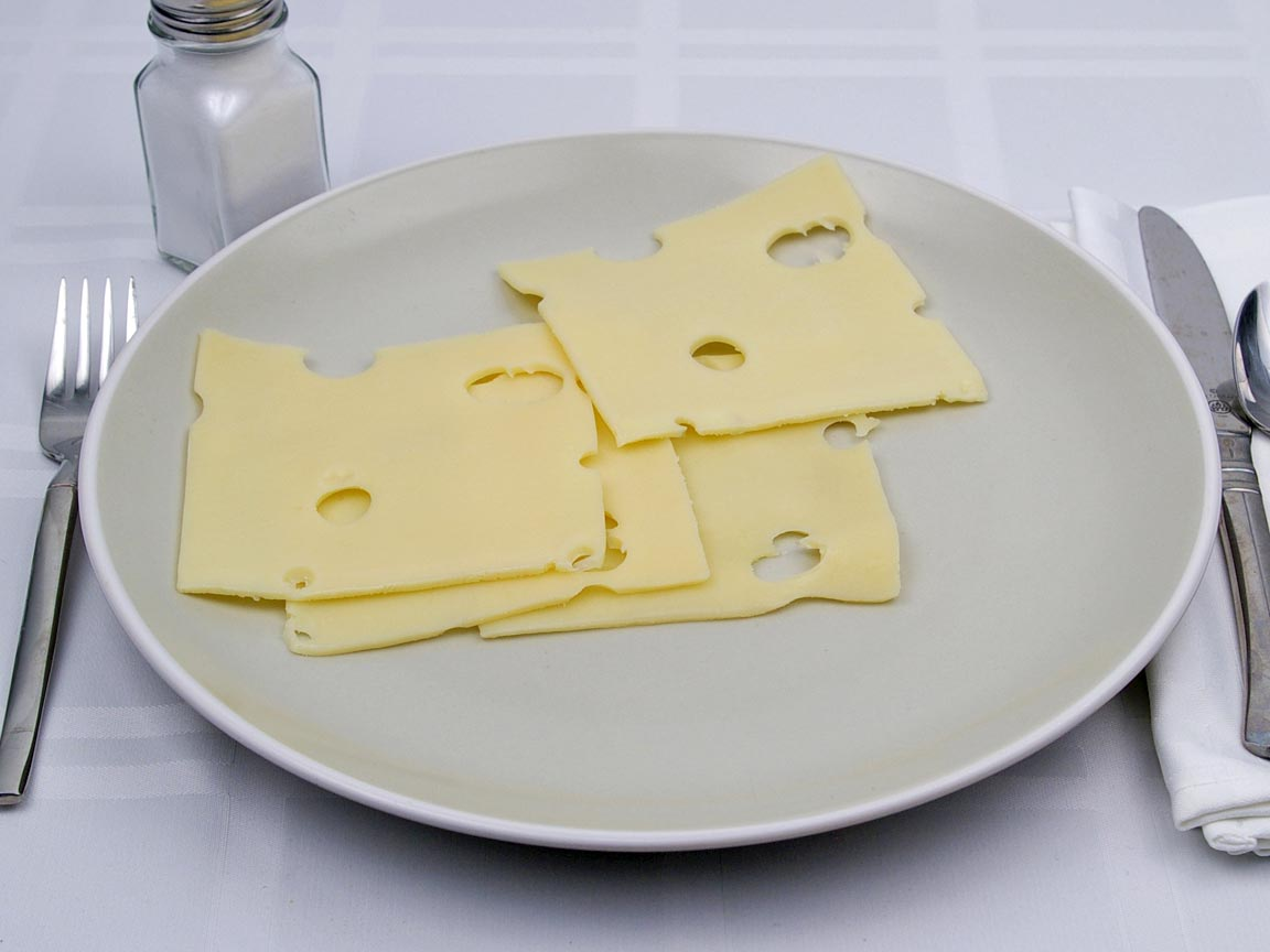 Calories in 4 slice(s) of Swiss Cheese