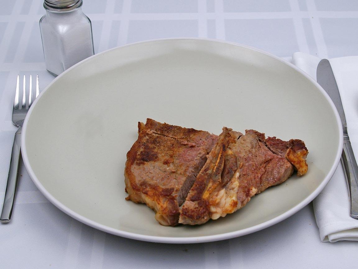 Calories in 181 grams of T-Bone Steak
