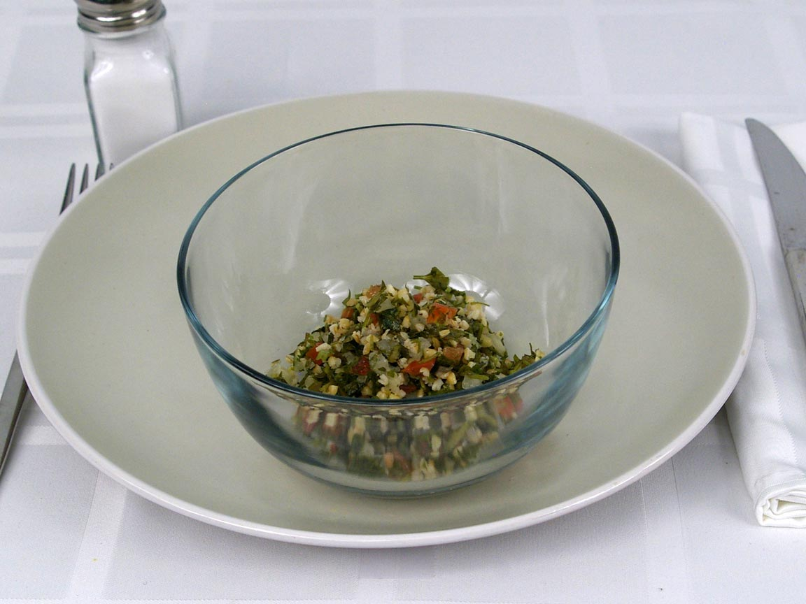 Calories in 0.5 cup(s) of Tabbouli