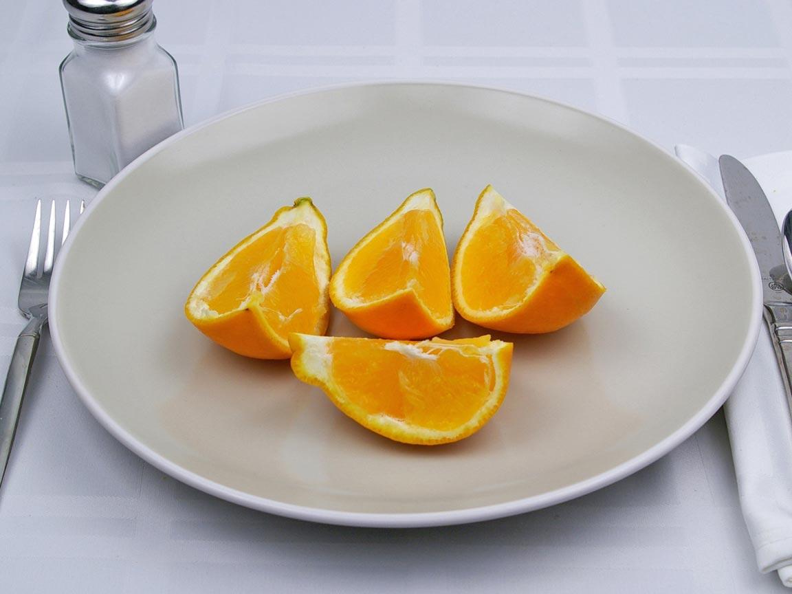 Calories in 1 fruit(s) of Tangelo
