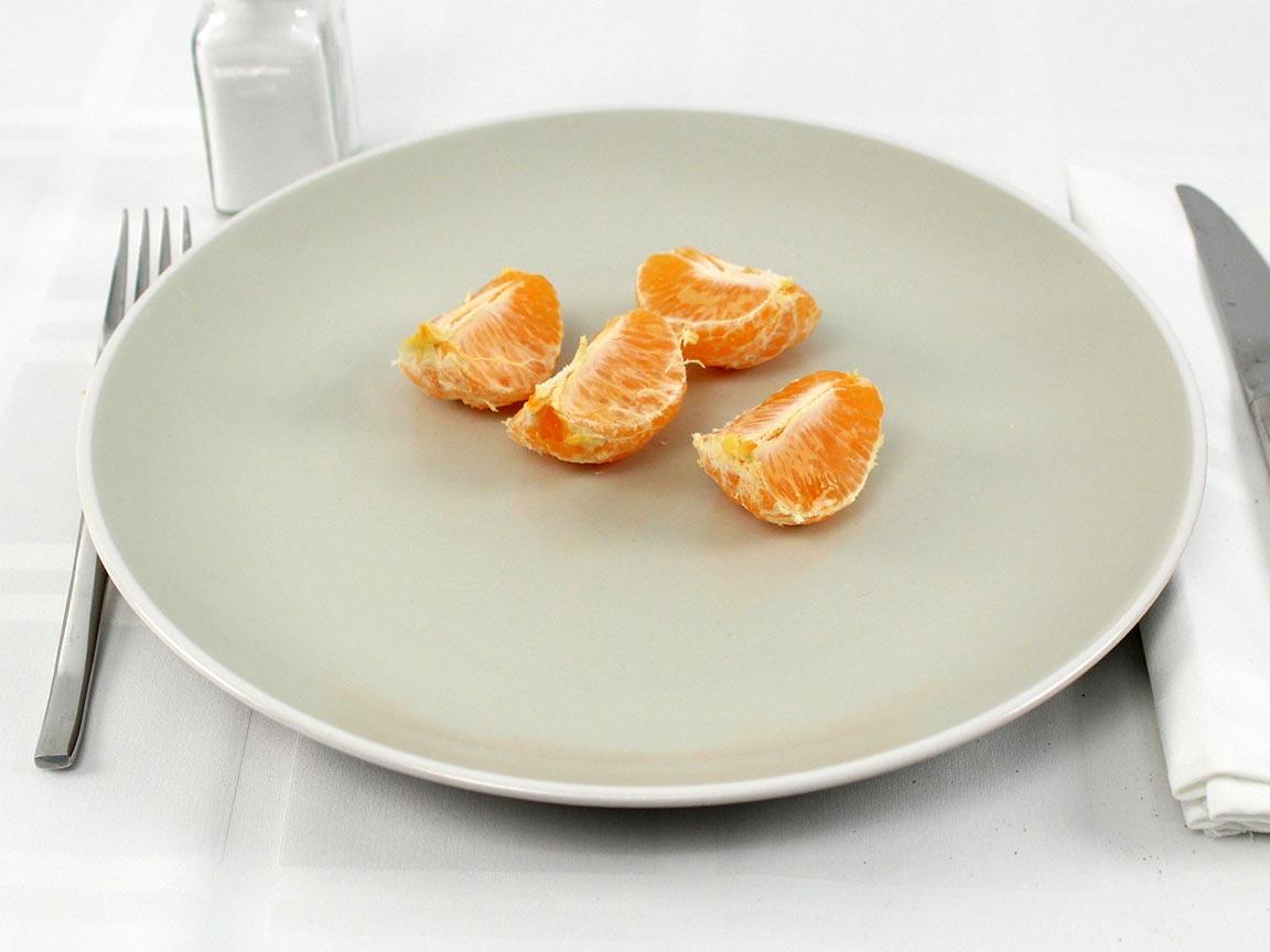 Calories in 1 tangerine(s) of Tangerines