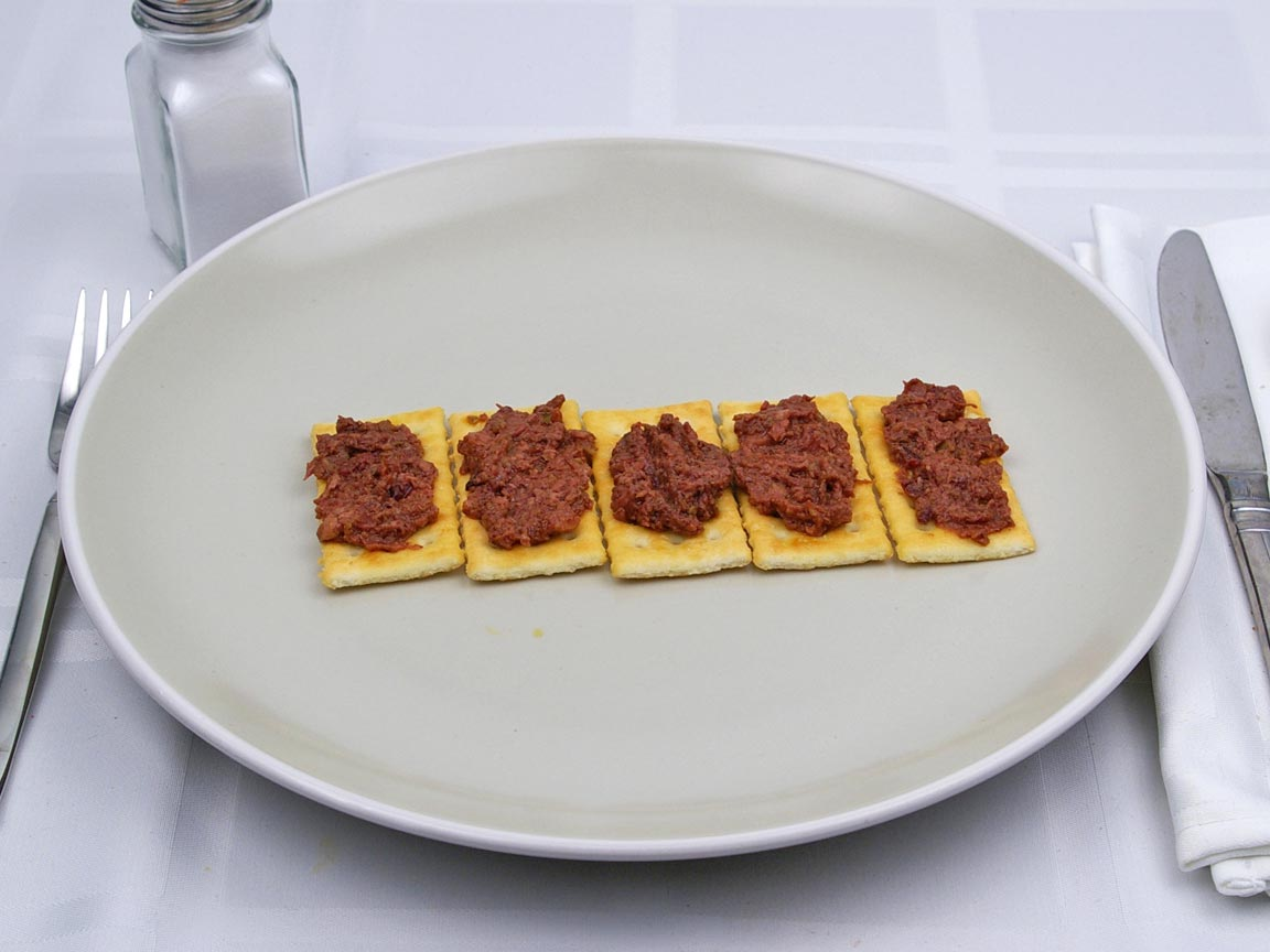 Calories in 5 Tbsp(s) of Tapenade - Olive Spread - Just Tapenade