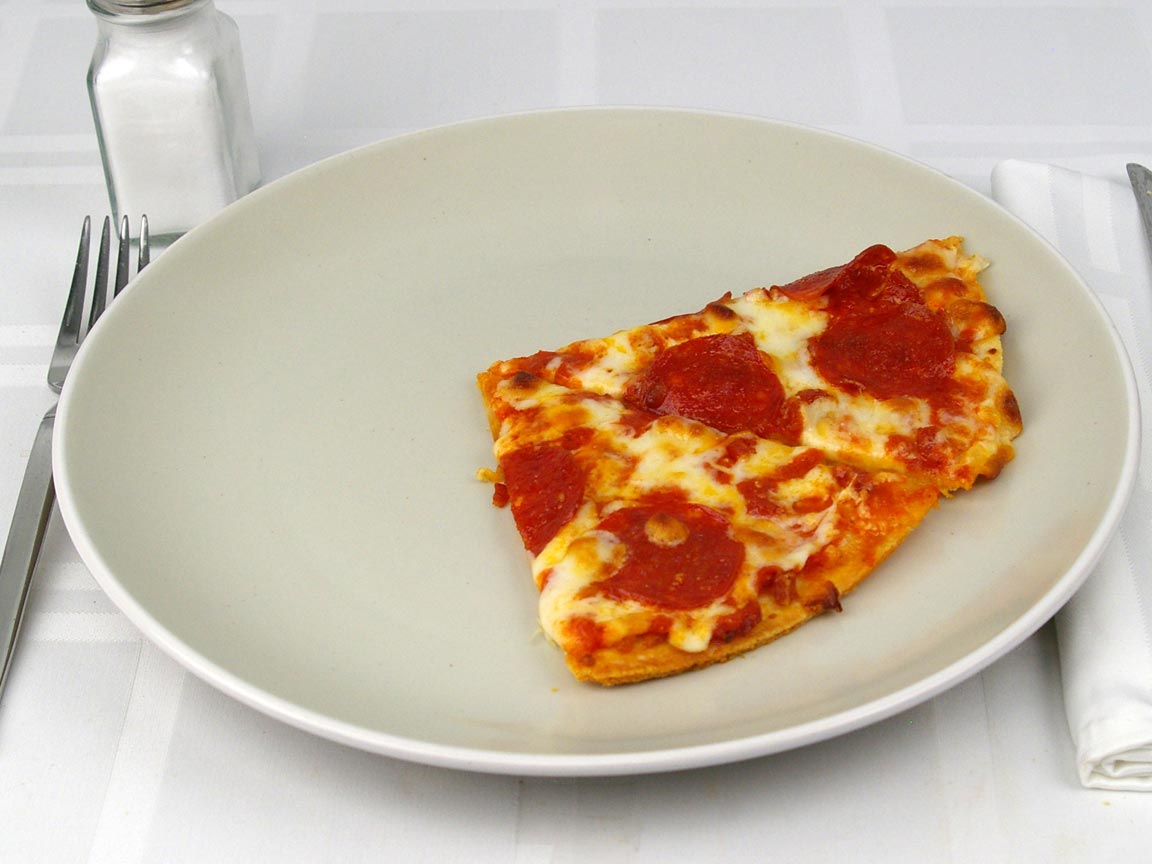 Calories in 2 piece(s) of Pizza - Ultra Thin Crust - Pepperoni Frozen