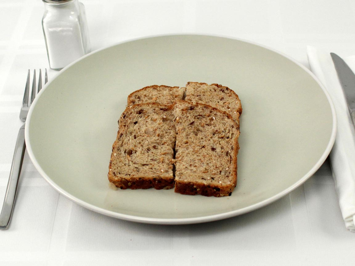 Calories in 2 piece(s) of Good Seed Thin Sliced Bread