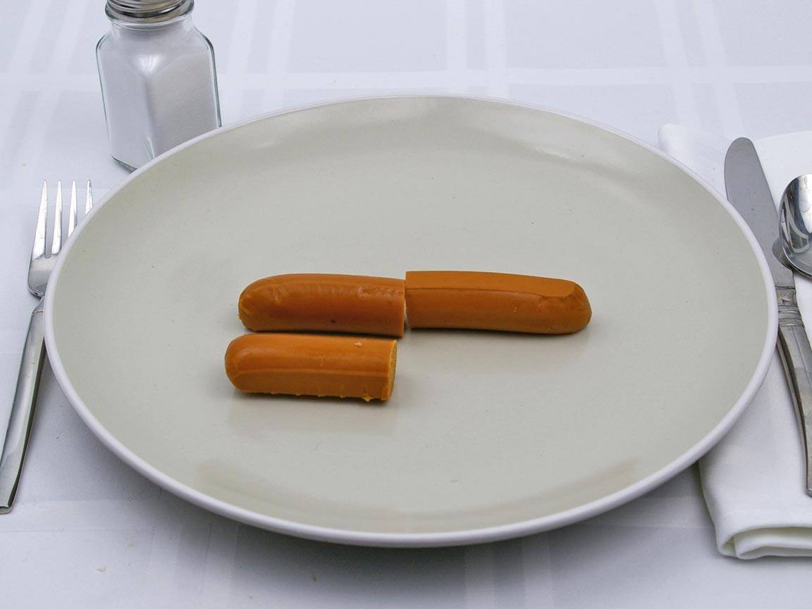 Calories in 1.5 frank(s) of Tofurky Franks