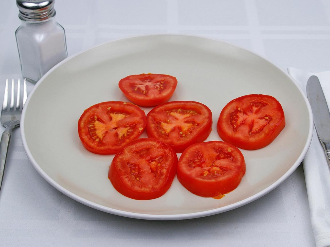 Calories in 170 grams of Tomatoes - Sliced