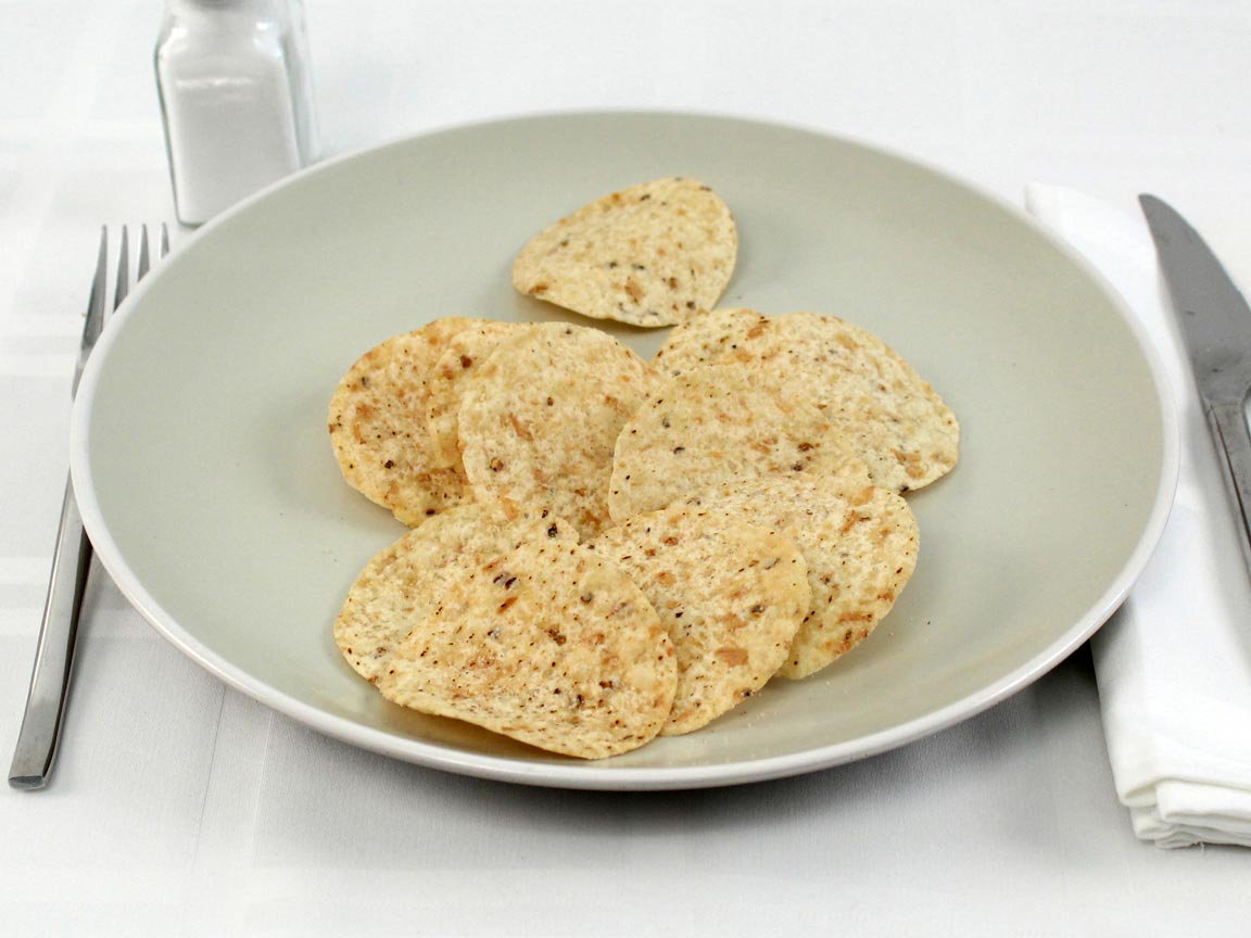Calories in 42 grams of Tortilla Chips Rounds