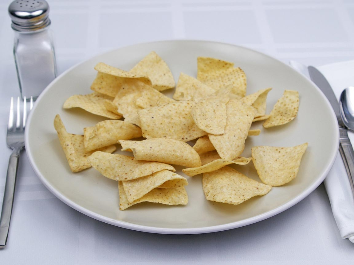 Calories in 56 grams of White Corn Tortilla Chips