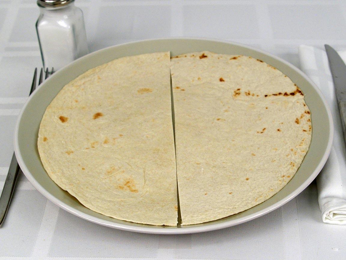 Calories in 1 tortilla(s) of Flour Tortilla - Large
