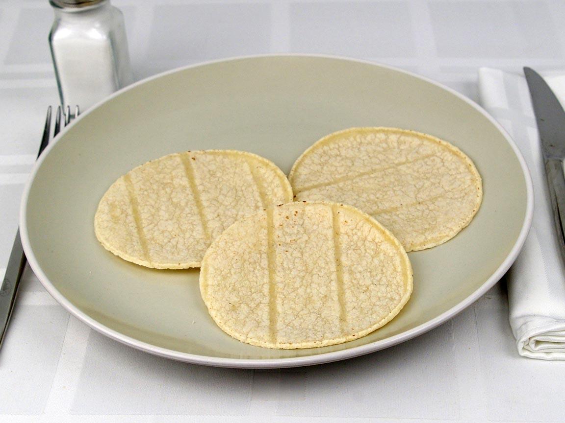 Calories in 3 tortilla(s) of Tortilla - Street Taco Size