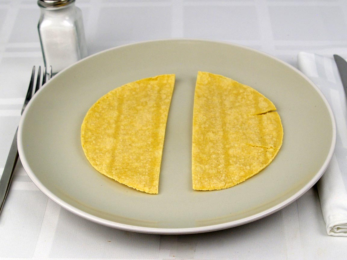 Calories in 1 tortilla(s) of Yellow Corn Tortilla