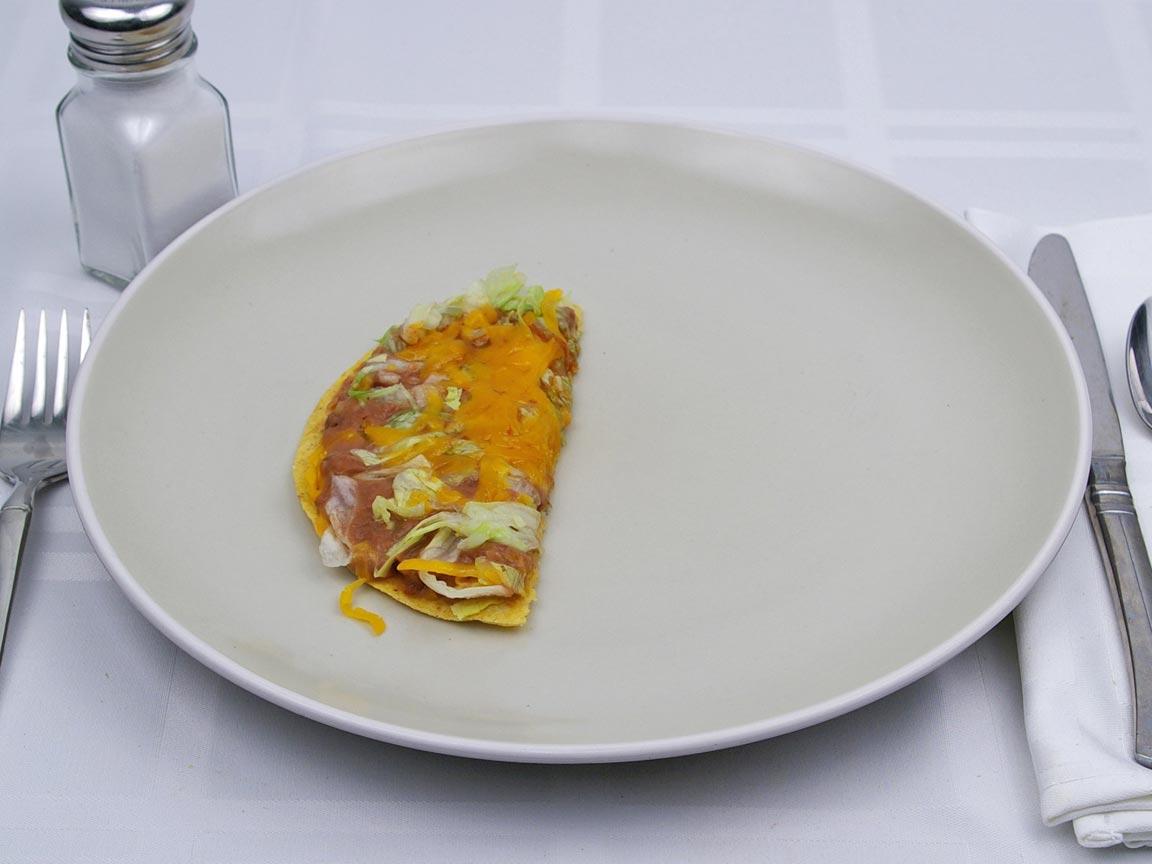 Calories in 0.5 tostada(s) of Taco Bell - Tostada