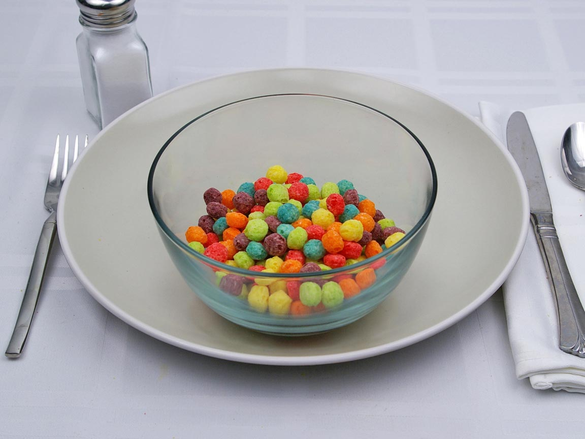 Calories in 1.25 cup(s) of Trix Cereal