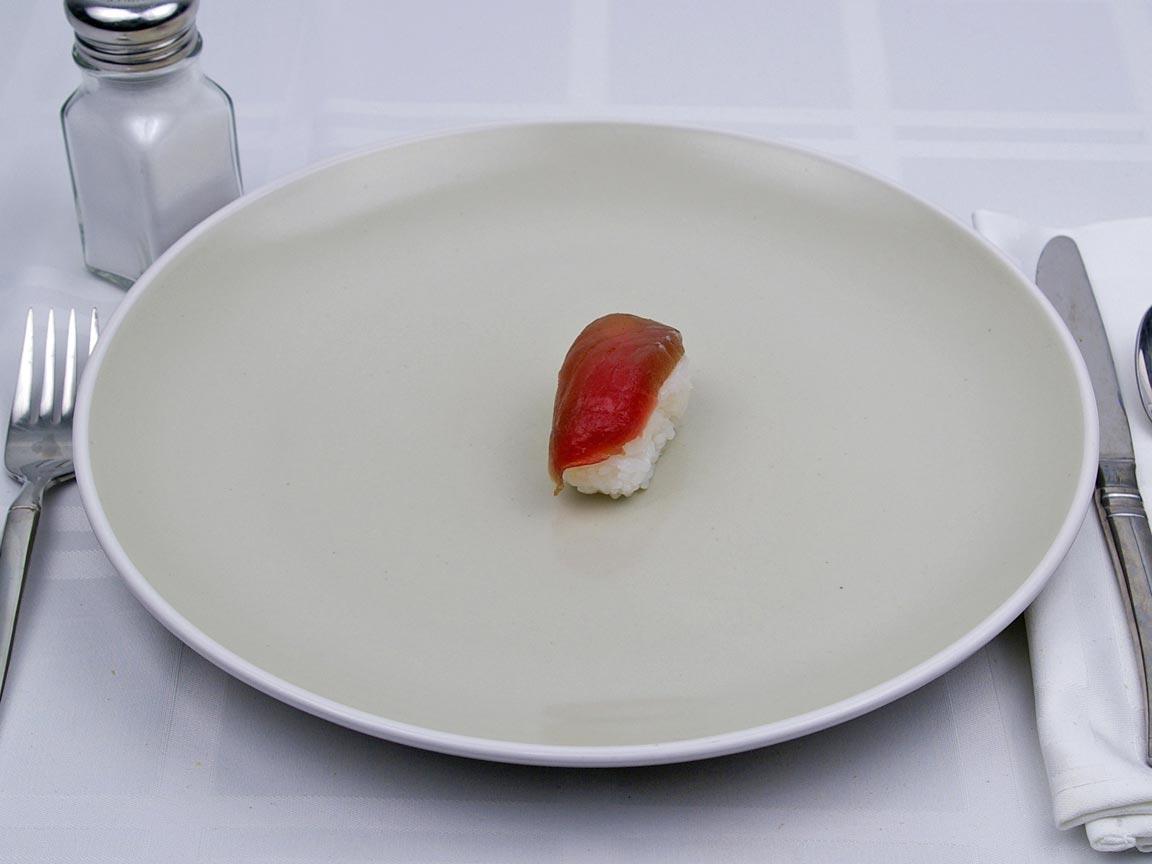 Calories in 1 piece(s) of Sushi - Nigiri - Tuna