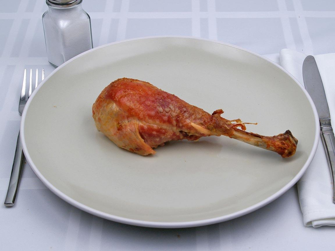 Calories in 1 leg(s) of Turkey - Leg