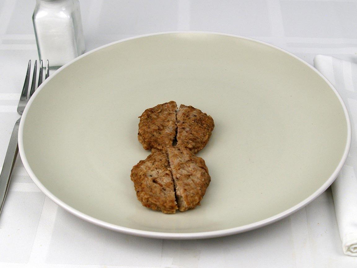 Calories in 2 pattie(s) of Turkey Sausage Patties