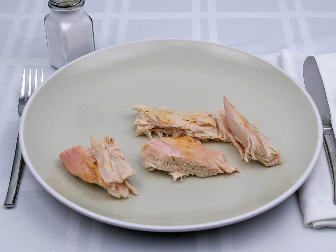 Calories in 113 grams of Turkey - Light Meat - No Skin