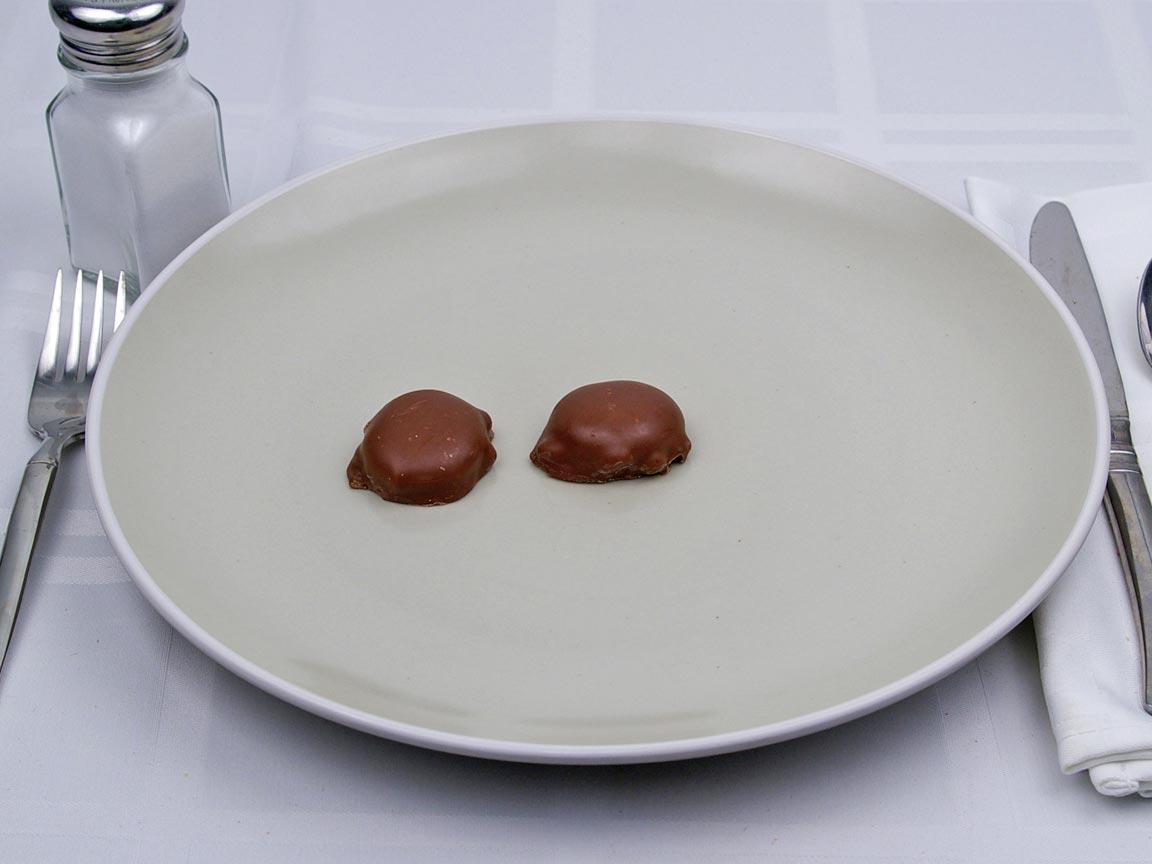 Calories in 0.67 package(s) of Turtles